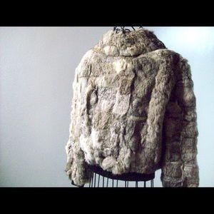 c180518f75de Jackets   Coats - Vintage Genuine Stone Rabbit Fur Zip Up Jacket